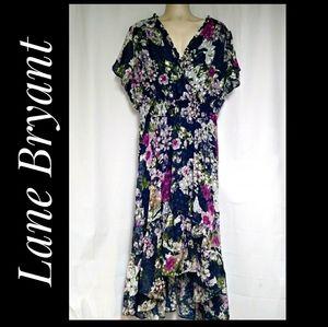 Lane Bryant Floral Hi-Low Fit & Flare Dress 26/28